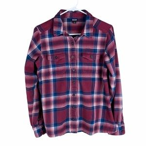 Patagonia women's red and blue flannel shirt small